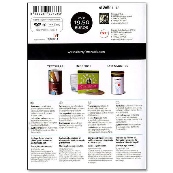 DVD de cuisine moléculaire par Ferran Adria