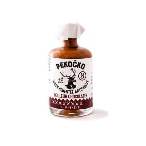 Pekocko - Sauce pimentée - Douleur chocolatée - Force 8