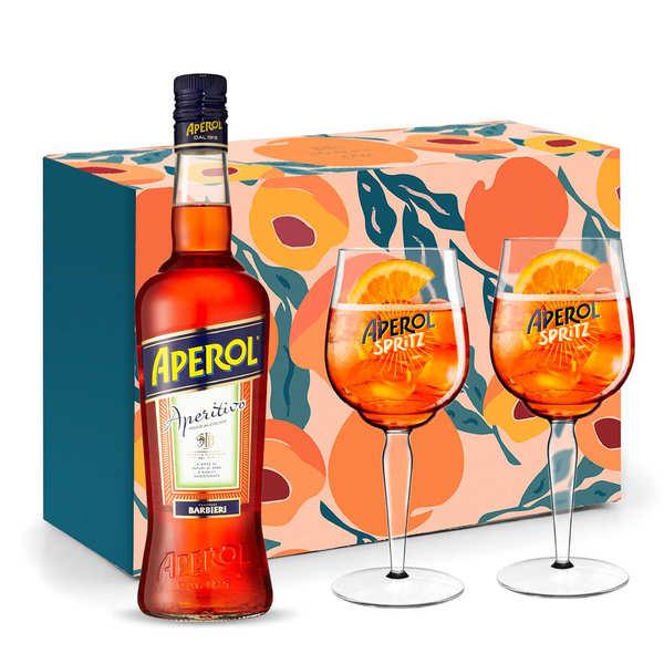 Coffret dégustation Aperol Spritz 2 verres