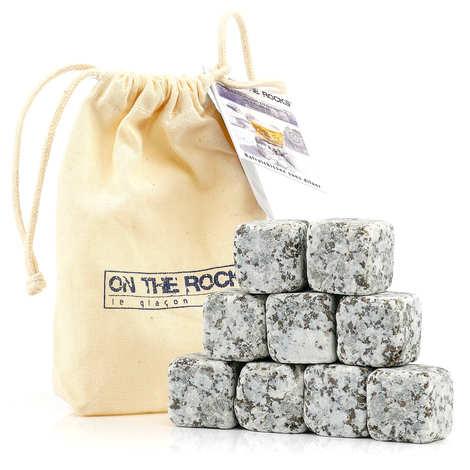 On The Rocks - 9 glaçons granit de l'Aubrac en sachet coton