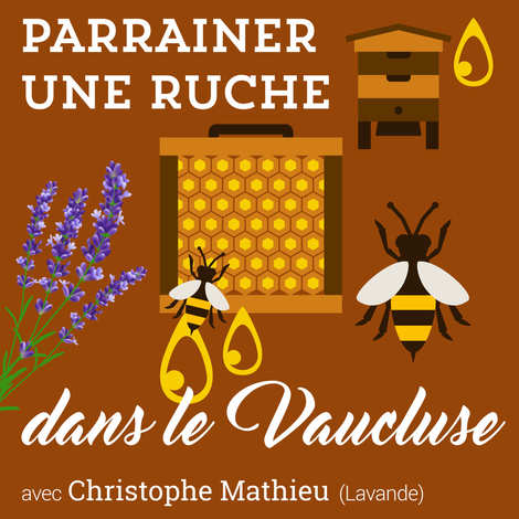 Christophe Mathieu - Sponsor a beehive - Lavender Honey From Vaucluse 2020