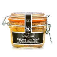 Foie gras de canard entier du Sud-Ouest IGP au Sauternes et au poivre vert