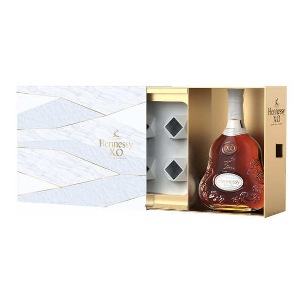 Coffret hennessy x.o experience - coffret cadeau 2 verres