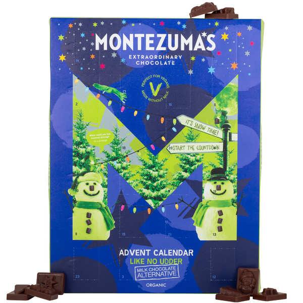 Calendrier de l'avent chocolat au lait bio et vegan Montezuma's
