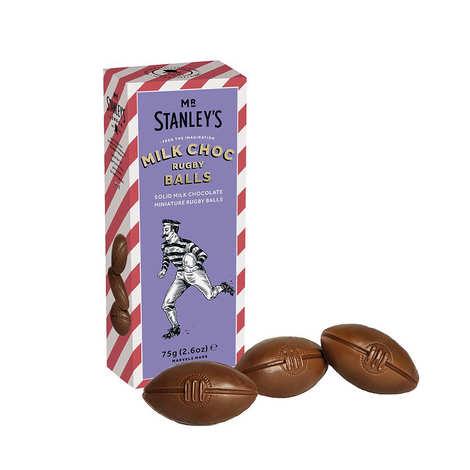 Mr Stanley's - Ballons de Rugby en chocolat au lait