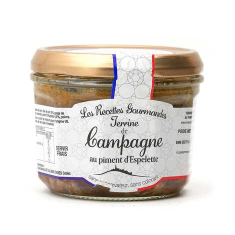 Les Recettes Gourmandes - Terrine de Campagne au piment d'Espelette