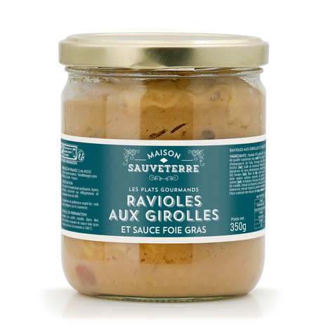 Maison Sauveterre - Girolle Mushrooms Ravioli with a Foie Gras Sauce