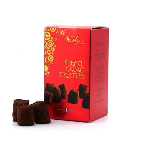 Chocolat Mathez - Petit ballotin de truffes fantaisie natures
