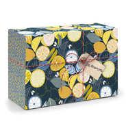 Decorated Gift medium box BienManger rectangle Lemons design