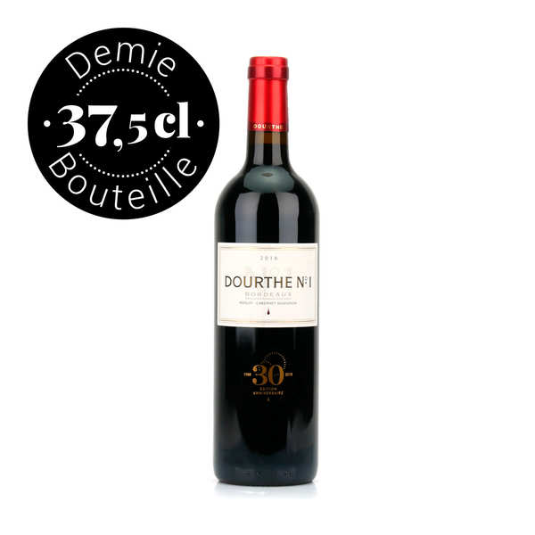 Dourthe n°1 bordeaux rouge aoc - demi-bouteille - 2016 - bouteille 37.5cl