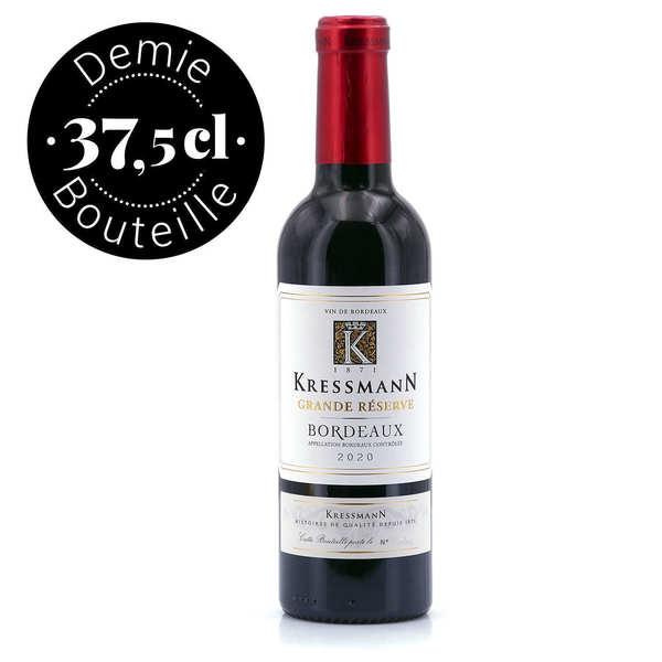 Bordeaux rouge aoc grande réserve - demi-bouteille - 2015 - bouteille 37.5cl