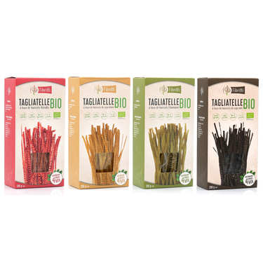 Organic and Gluten Free Soy-based Tagliatelle Assortment