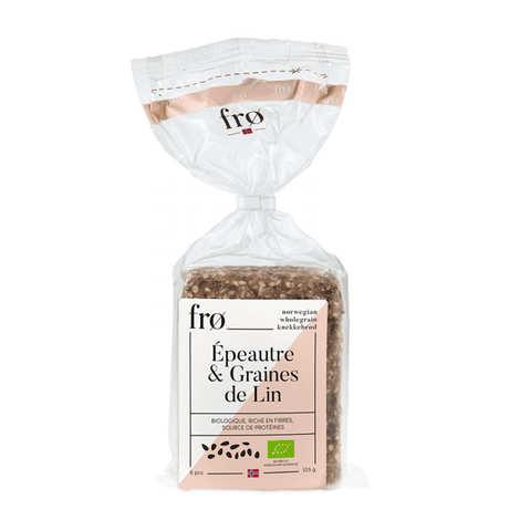 FRØ - Organic Crispy Norvegian Bread - Spelled & Flaxseeds