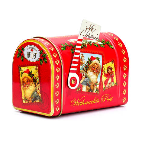 Confiserie Heidel - Boîte aux lettres de Noël remplie de chocolats