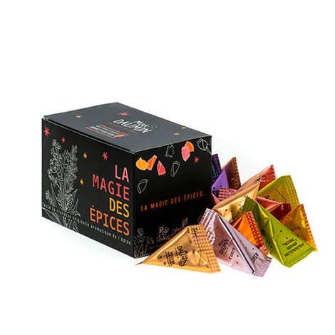 Max Daumin - Coffret Assortiment de 20 dosettes de différentes épices