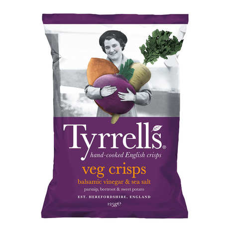 Tyrrells - Chips de légumes - Panais, betterave et patate douce au vinaigre balsamique et sel de mer