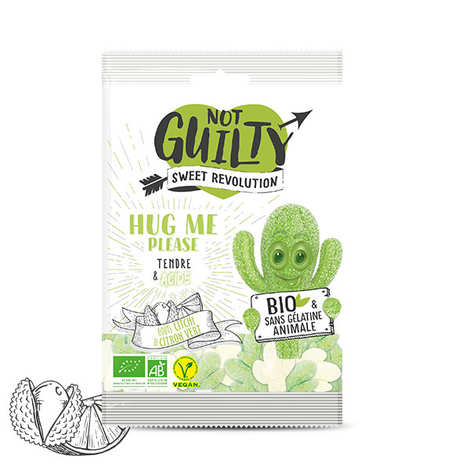 Not Guilty - Bonbons piquants Litchi et citron vert bio, sans gélatine animale & vegan - Hug Me Please