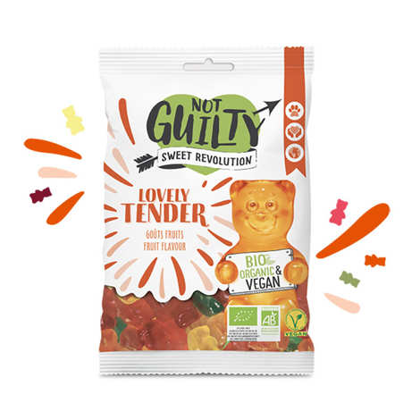 Not Guilty - Bonbons aux fruits bio, sans gélatine animale & vegan - Lovely Tender