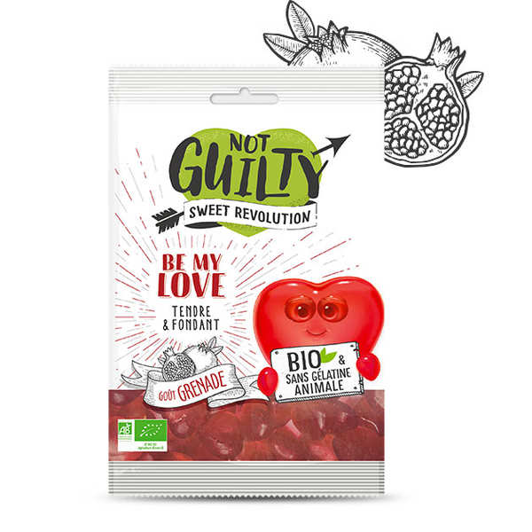 Organic & vegan Pomegranate Candies