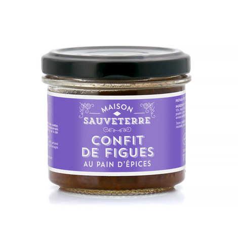 Maison Sauveterre - Confit de figues violettes au pain d'épices