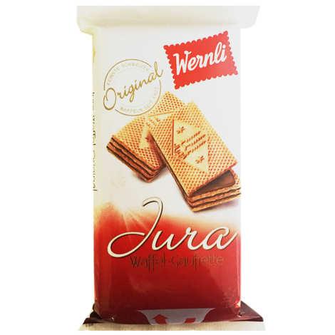 Wernli - Gaufrettes Jura au chocolat au lait suisse