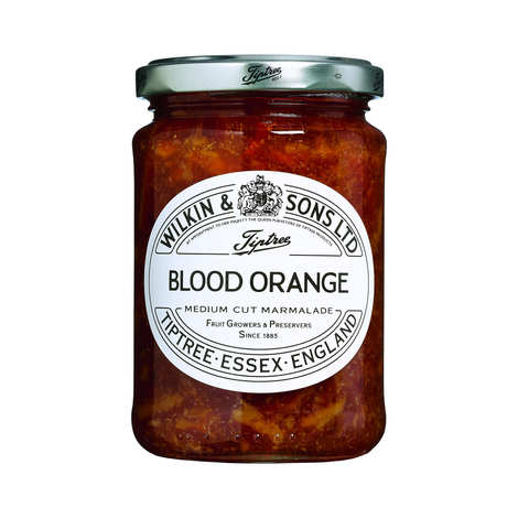 Tiptree - Marmelade orange sanguine anglaise - écorce moyenne