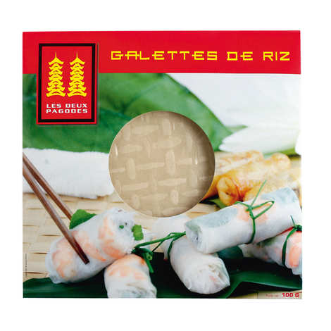 Les Deux Pagodes - Galettes de riz chinoises déshydratées