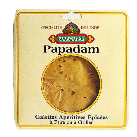 Raajmahal - Papadam - Appetizer pancakes made from lentil flour