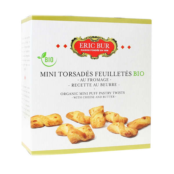 Organic puff pastry twist with cheese
