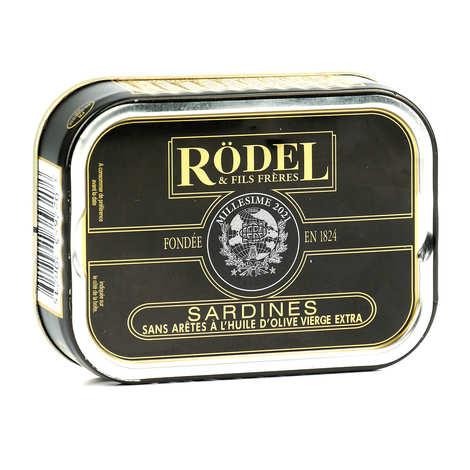 Rödel - Sardines sans arêtes à l'huile d'olive millésimée