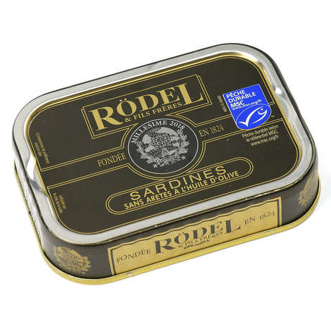 Rödel - Vintage Boneless Sardines in Olive Oil