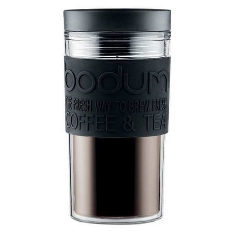 Bodum - Plastic insulated travel mug 35cl black - Travel Mug