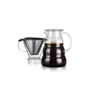 Cafetière filtre permanent et maille inox 1L - Melior