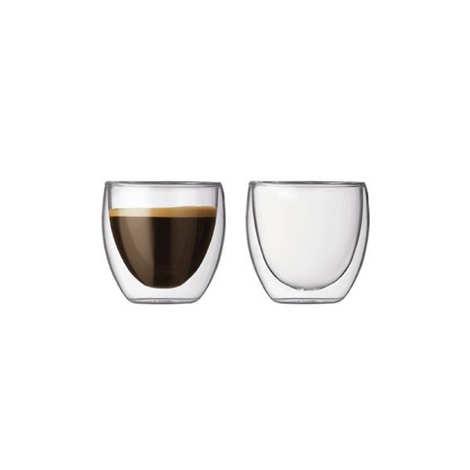 Bodum - Set 2 verres de 8cl à double paroi - Pavina