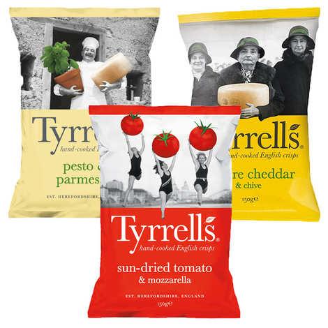Tyrrells - 2 sachets de chips de pommes de terre bio Tyrrells
