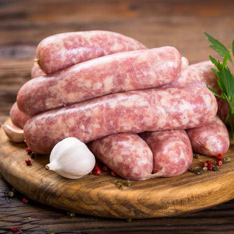 Maison Bousquet - 10 saucisses de porc de l'Aveyron bleu blanc cœur