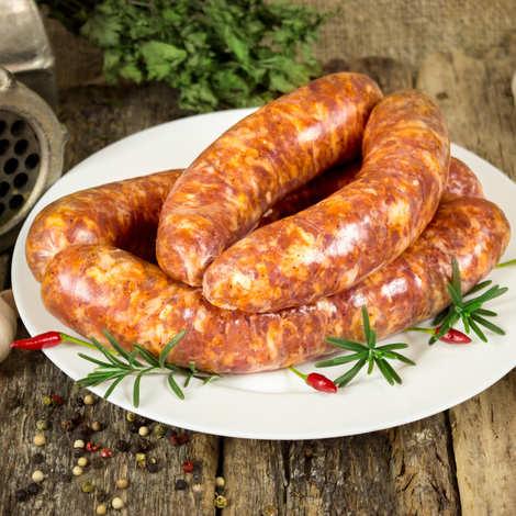 Maison Bousquet - 20 saucisses au piment d'Espelette à griller