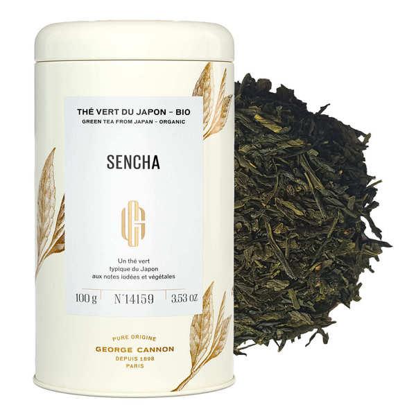 Organic Sencha green tea from Japan - metal box