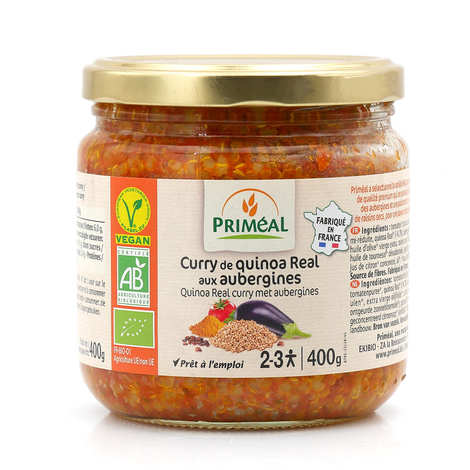 Priméal - Curry de quinoa Real aux aubergines bio