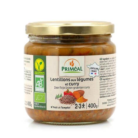 Priméal - Lentillons de légumes et curry bio