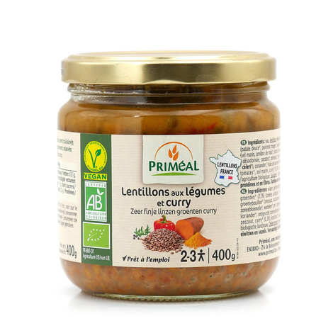 Priméal - Organic lentils with vegetables and curry