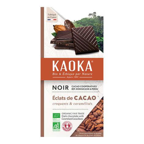 Kaoka - Tablette de chocolat noir 70% aux éclats de cacao caramélisés