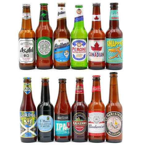 BienManger paniers garnis - Coffret 24 bières - Les pays du rugby