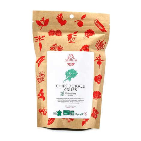 Sol Semilla - Chips de kale crues spiruline bio