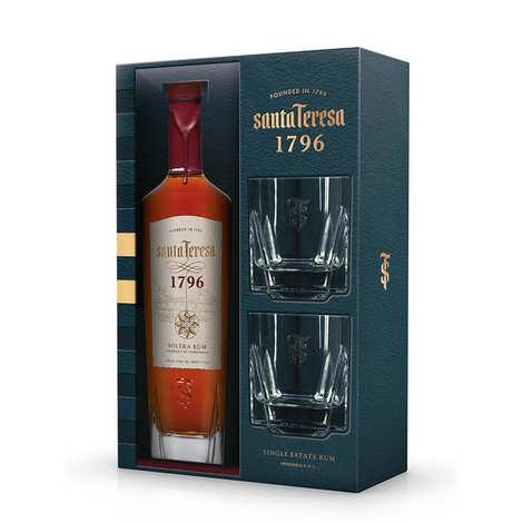 Santa Teresa - Rhum Santa Teresa 1796 du Vénézuela coffret 2 verres 40%