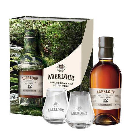 Aberlour Distillery - Whisky Aberlour 12 ans Un-chillfiltered coffret 2 verres 48%