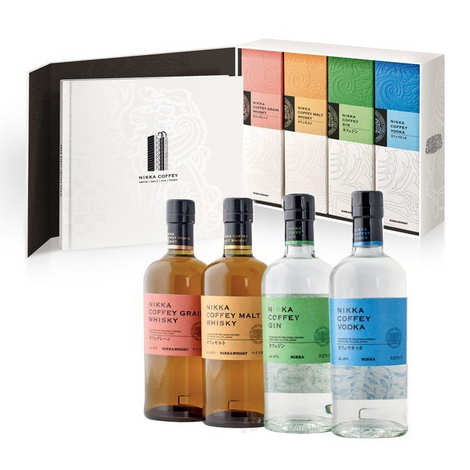 Whisky Nikka - Nikka Coffey Range coffret 4 bouteilles & livre