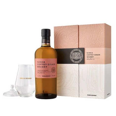 Whisky Nikka - Coffret Whisky Nikka coffey Grain 1 verre 45%