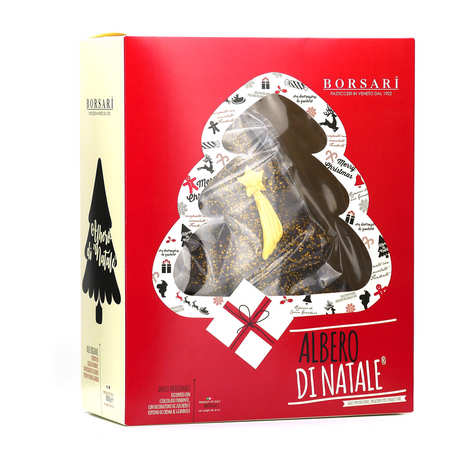 Borsari - Christmas tree panettone with hazelnut and chocolate cream