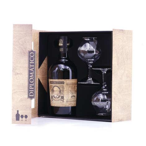 Destilerias Unidas - Diplomatico seleccion de la familia rum - 2 glasses box